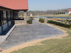 Concrete Commercial Patio